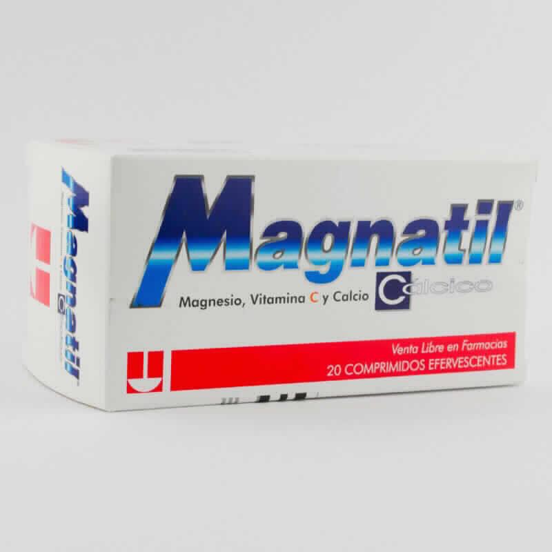 Imagen de producto: MAGNATIL® Magnesio, Vitamina C y Cálcio - Caja de 20 comprimidos efervescentes