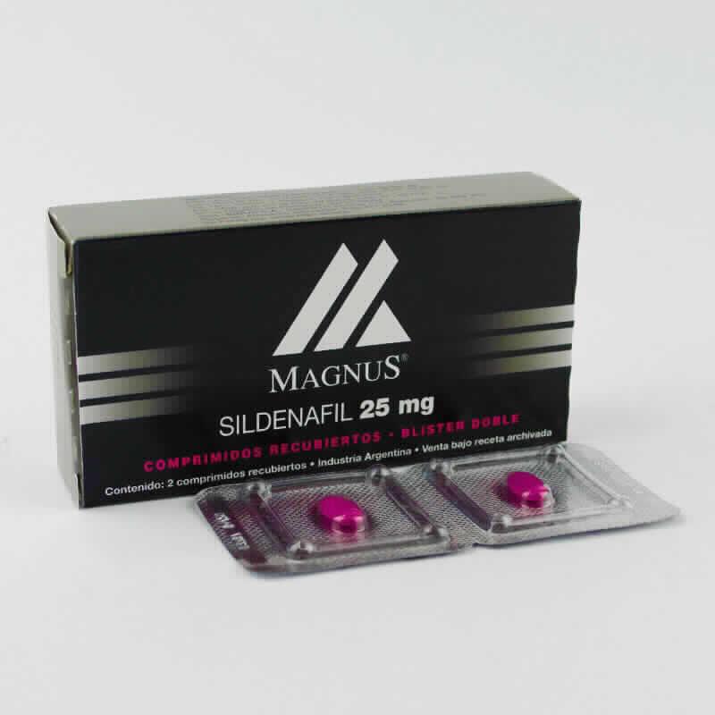 Imagen de producto: MAGNUS® Sildenafil 25 mg - Contenido de 2 comprimidos recubiertos