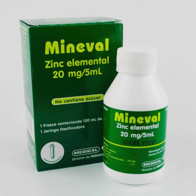 Imagen de producto: MINEVAL ZIN Elemental 20 mg - Jarabe de 120 ml.