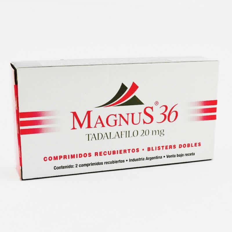 Imagen de producto: MagnuS® 36 Tadalafilo 20 mg - Caja de 2 comprimidos recubiertos
