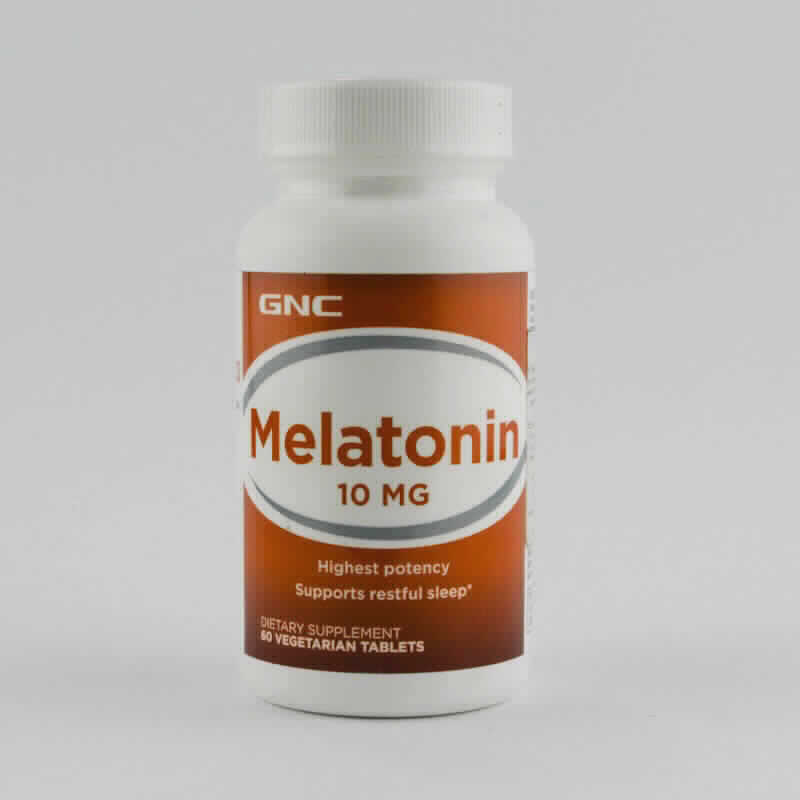 Imagen de producto: Melatonin 10 mg Highest potency - Dietary supplement 60 vegetarian tablets