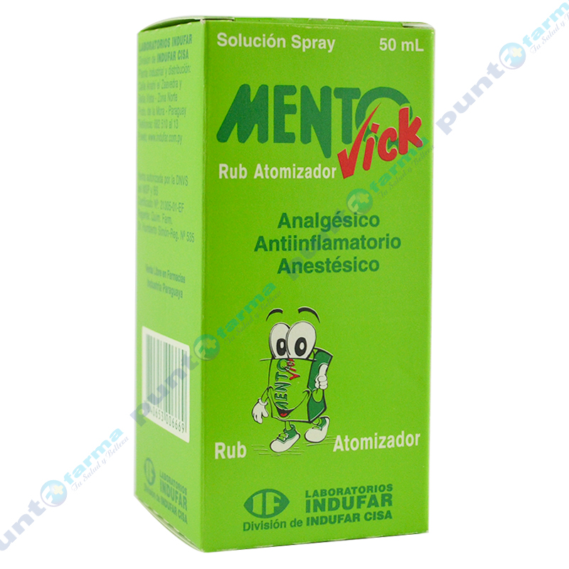 Imagen de producto: MentoVick Rub Atomizador - Solución Spray de 50 ml