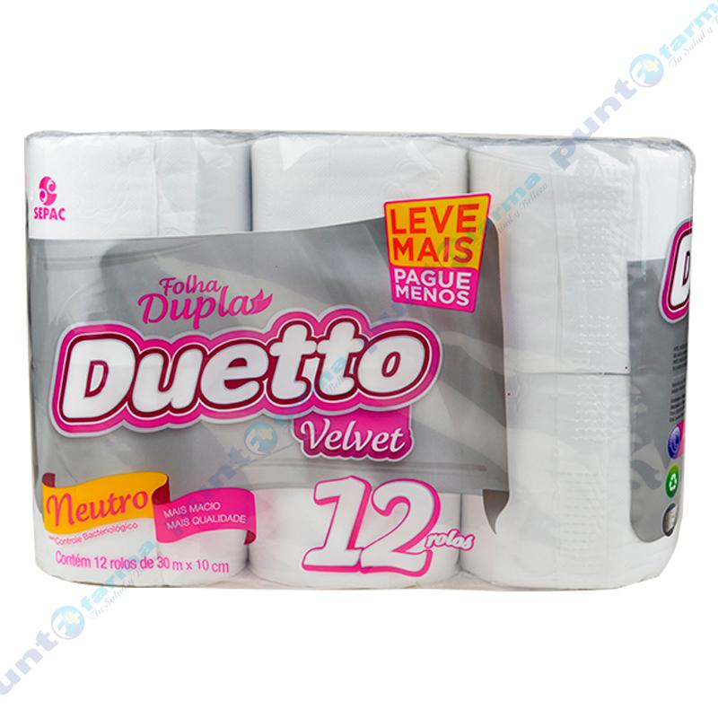 Imagen de producto: Papel Higiénico Duetto Velvet - Cont. 12 rollos