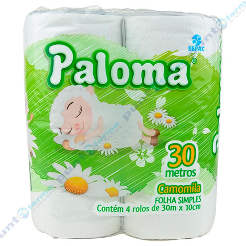 Imagen de producto: Papel Higiénico Paloma® Camomila - Cont. 4 rollos