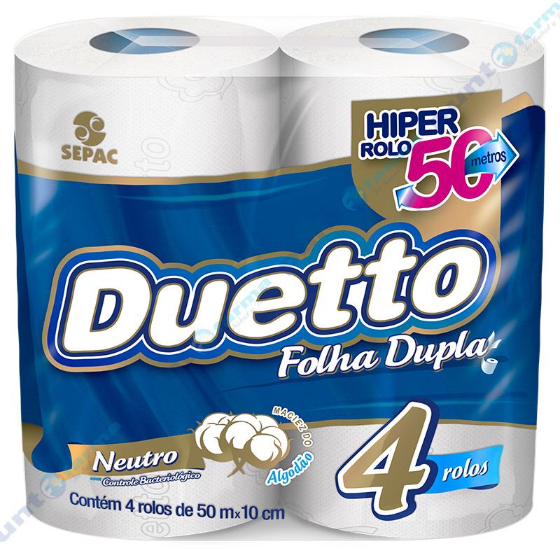 Imagen de producto: Papel higiénico Duetto® 50 metros - Cont. 4 rollos