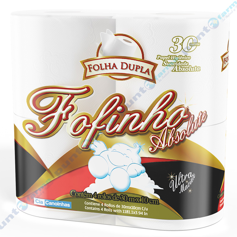 Imagen de producto: Papel higiénico Fofinho Absolute 4 rollos de 30 metros