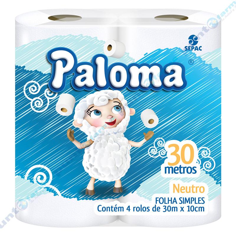 Imagen de producto: Papel higiénico Paloma® Neutro - Cont. 4 rollos