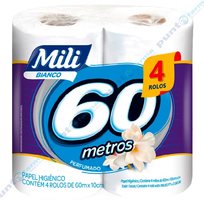 Imagen de producto: Papel higiénico perfumado Mili 60 metros - Cont. 4 rollos