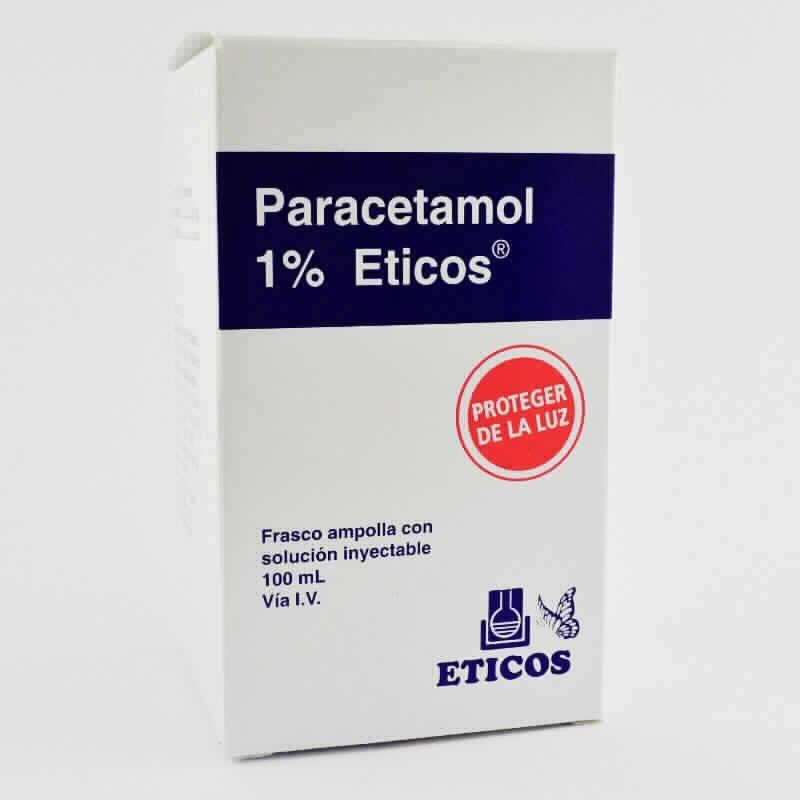 Imagen de producto: Paracetamol 1% Eticos® - Fco ampolla solucion inyectable 100ml