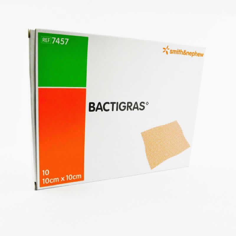 Imagen de producto: Parche BACTIGRAS - Contenido de 10 apositos de 10x10 cm
