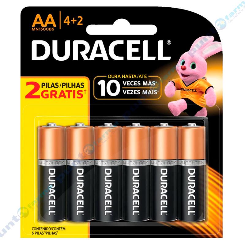 Imagen de producto: Pila DURACELL® AA 4+2 - Contiene 6 pilas