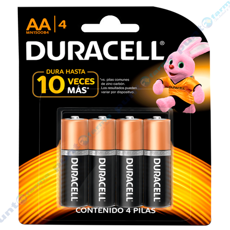 Imagen de producto: Pilas DURACELL® AA/4 - Contiene 4 pilas
