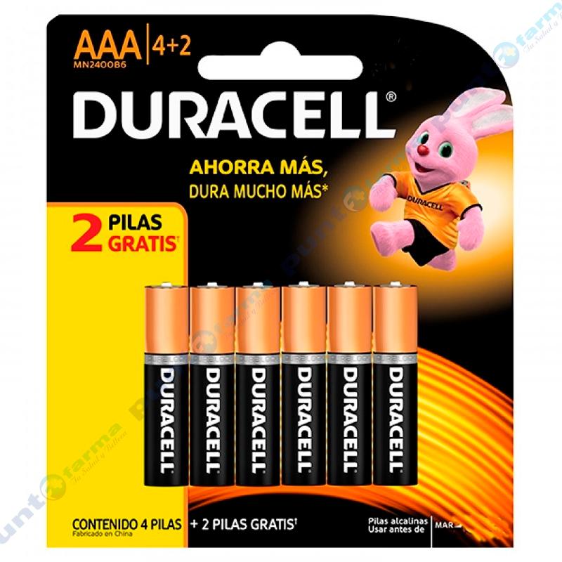 Imagen de producto: Pilas DURACELL® AAA4+2 - Contiene 6 pilas