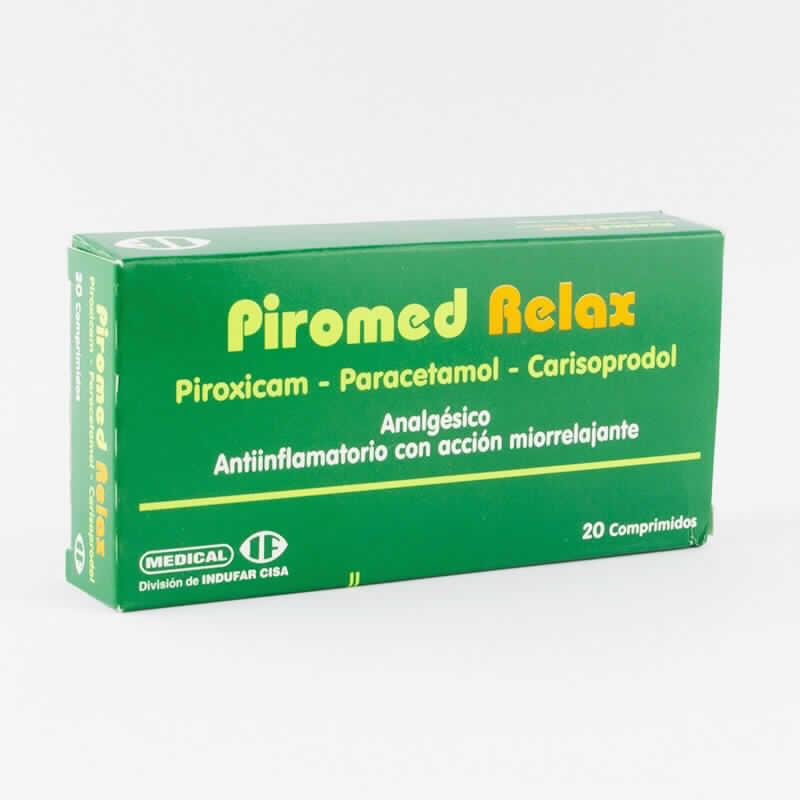 Imagen de producto: Piromed Relax Analgésico - Antiinflamatorio con acción miorrelajante - Caja de 20 Comprimidos