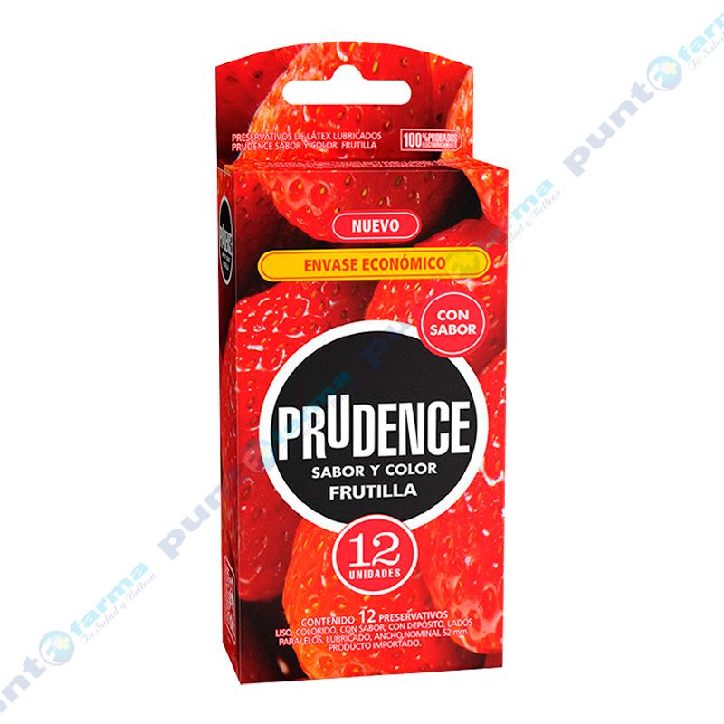 Imagen de producto: Preservativos Prudence Colores y Sabores Frutilla - Caja de 12 unidades