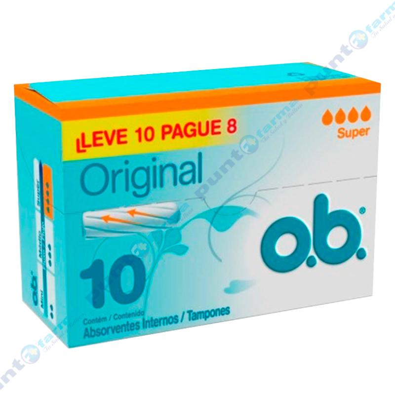 Imagen de producto: Promo Tampones Original Super O.b.® - Cont. 10 unidades