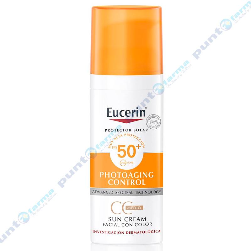 Imagen de producto: Protector Solar Facial con Color Tono Medio FPS 50 Eucerin - 50mL