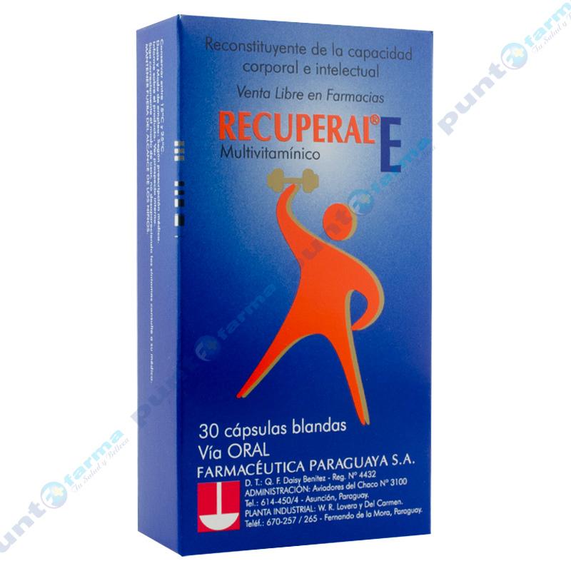 Imagen de producto: RECUPERAL® E Multivitamínico - Caja de 30 cápsulas blandas