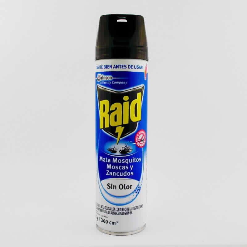 Imagen de producto: Raid® Insecticida Mata Moscas, Mosquitos y Zancudos - Sin Olor - 222g
