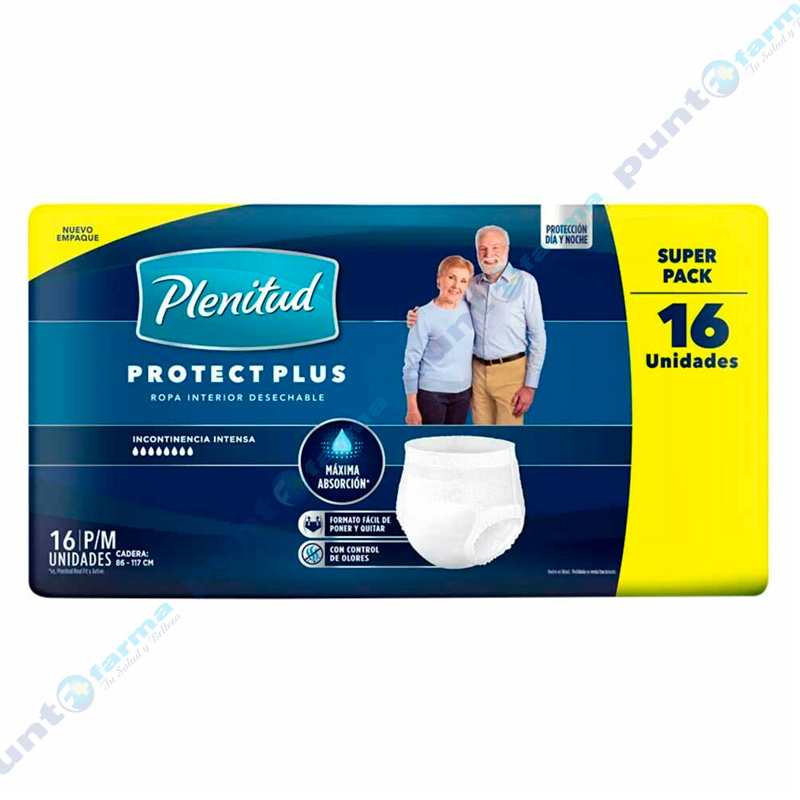 Imagen de producto: Ropa Interior Desechable Plenitud® Protect Plus P/M  - 16 unidades