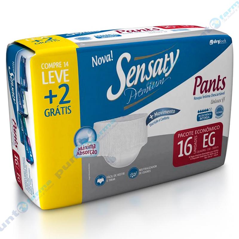 Imagen de producto: Ropa Interior Desechable Sensaty Premium Pants EG - Cont. 16 unidades
