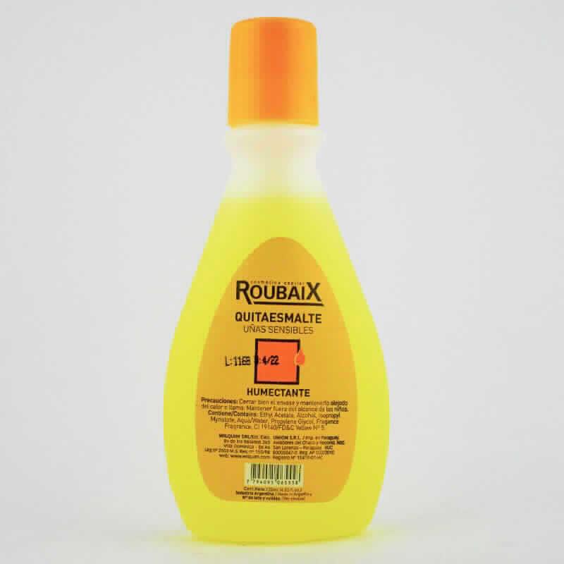 Imagen de producto: Roubaix Quita esmalte humectante - Cont. Neto 120 ml