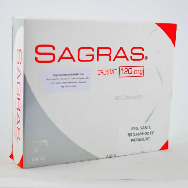 Imagen de producto: SAGRAS® - Orlistat 120 mg - Caja con 42 cápsulas