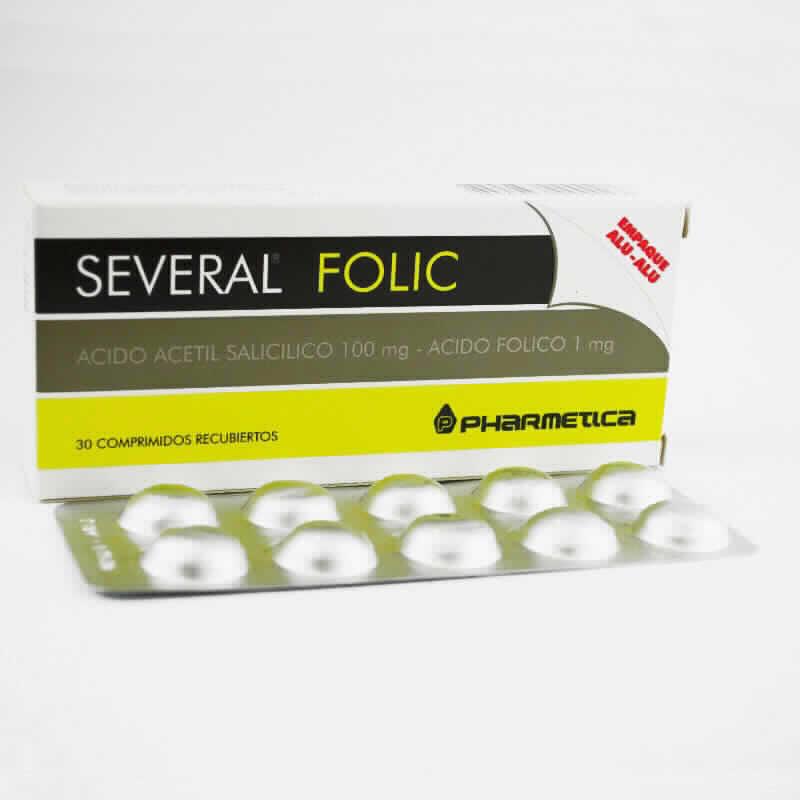 Imagen de producto: SEVERAL® Folic - Contenido de 30 comprimidos recubiertos