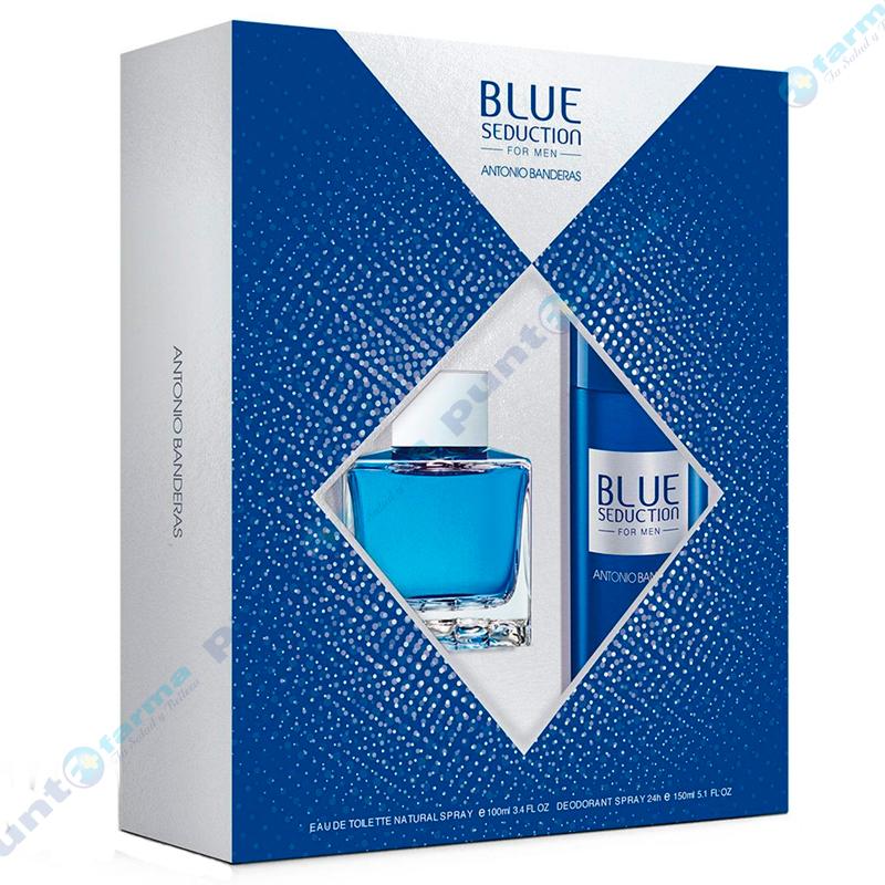 Imagen de producto: Set de Antonio Banderas Blue seduction EDT 100mL + desodorante 150mL