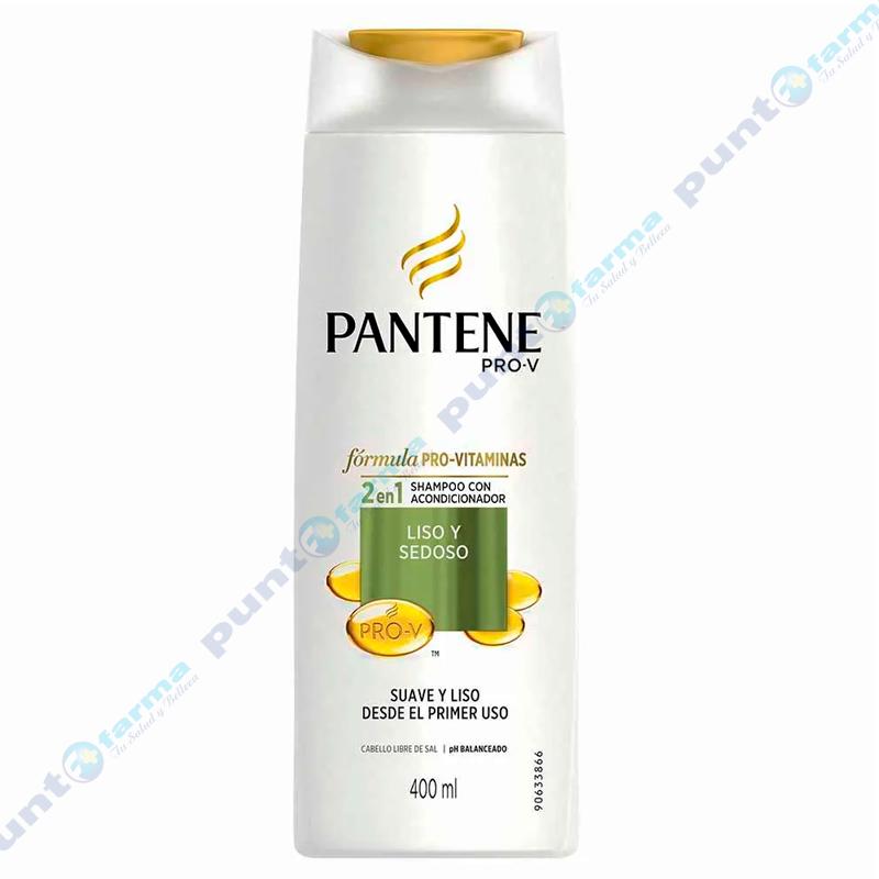 Imagen de producto: Shampoo + Acondicionador Pantene PRO-V Liso y Sedoso - 400mL