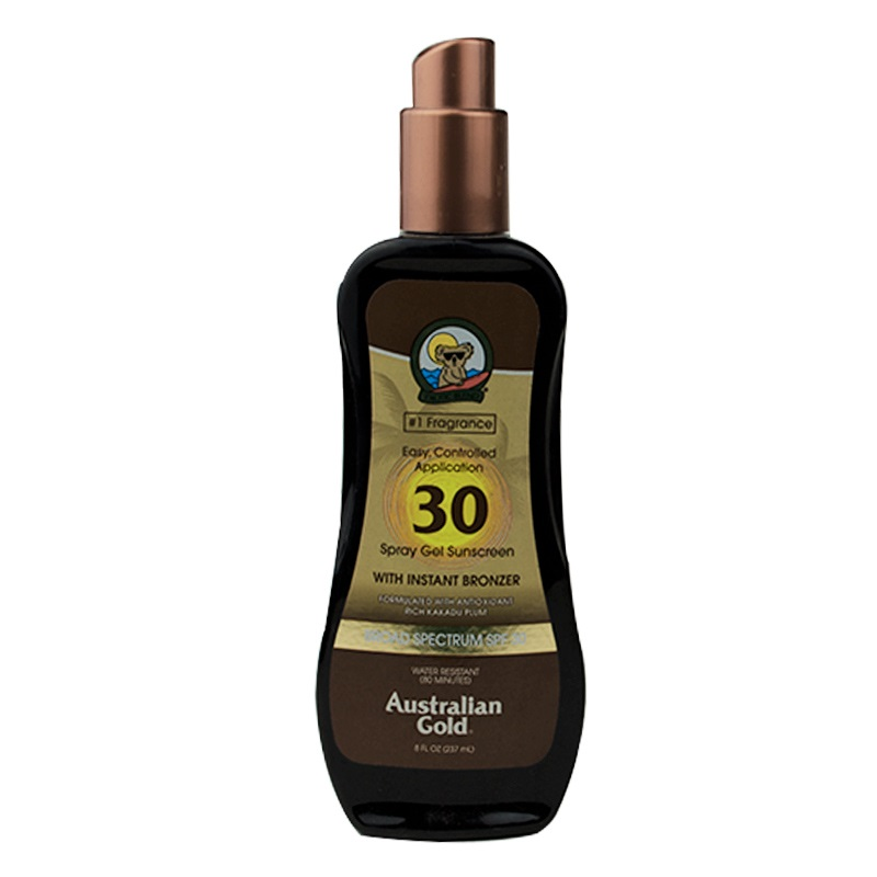 Imagen de producto: Spray gel wiyh instant Bronzer Australian Gold® SPF 30