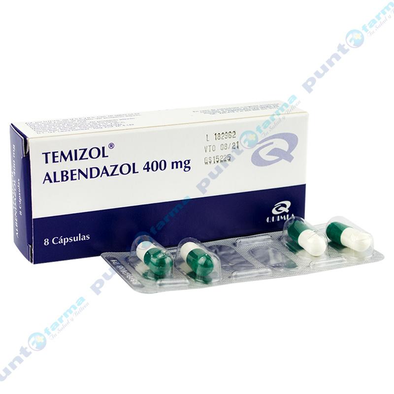 Imagen de producto: Temizol® Albendazol 400mg - Caja de 8 cápsulas