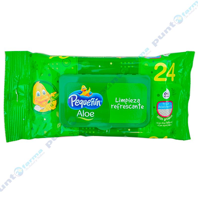 Imagen de producto: Toallitas Húmedas Aloe Pequeñin® - Cont. 24 unidades
