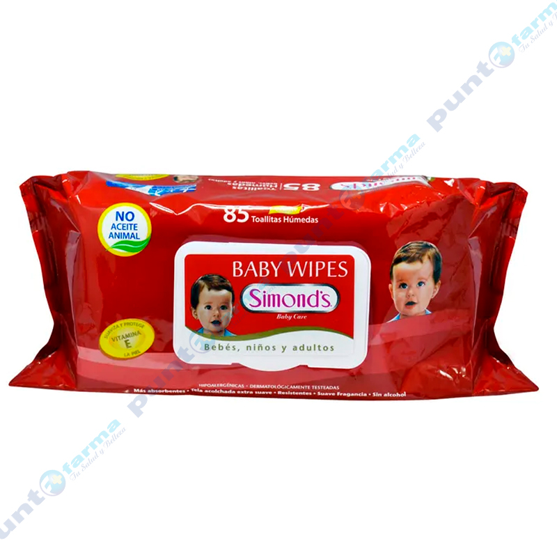 Imagen de producto: Toallitas Húmedas Baby Wipes Simond's - Cont. 85 unidades