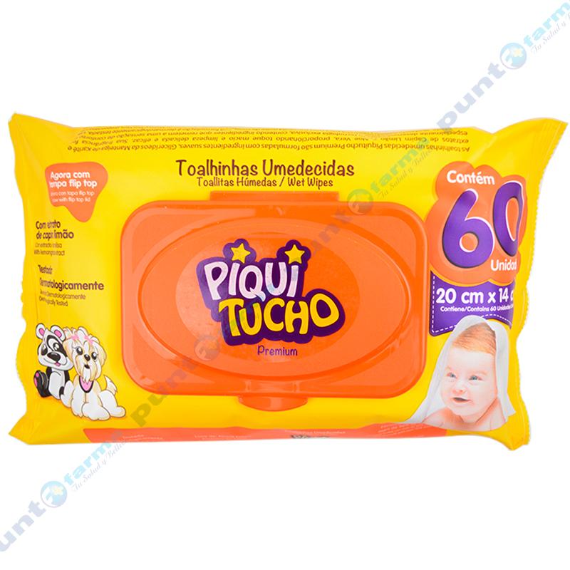Imagen de producto: Toallitas Húmedas Piqui Tucho Premium - Cont. 60 unidades