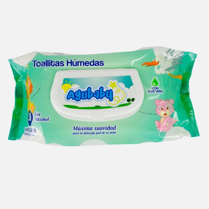 Imagen de producto: Toallitas húmedas máxima suavidad Agubaby - Cont. 100 unidades