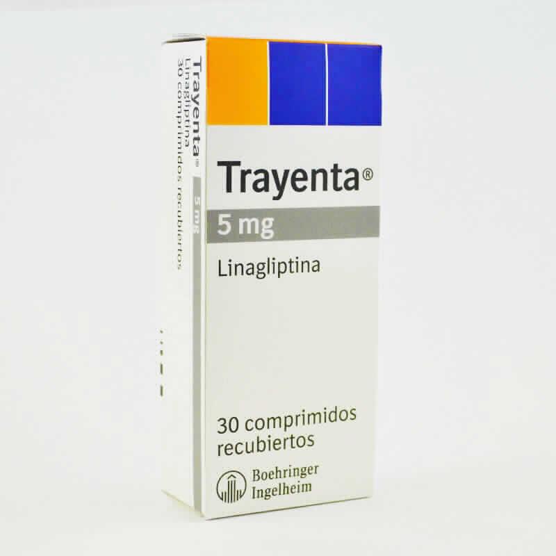 Imagen de producto: Trayenta® linagliptina 5mg - Caja de comprimidos