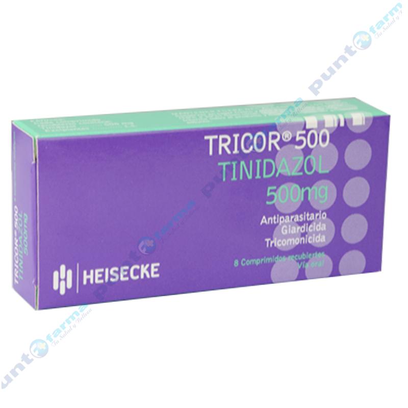 Imagen de producto: Tricor® 500 Tinidazol - Caja de 8 comprimidos.