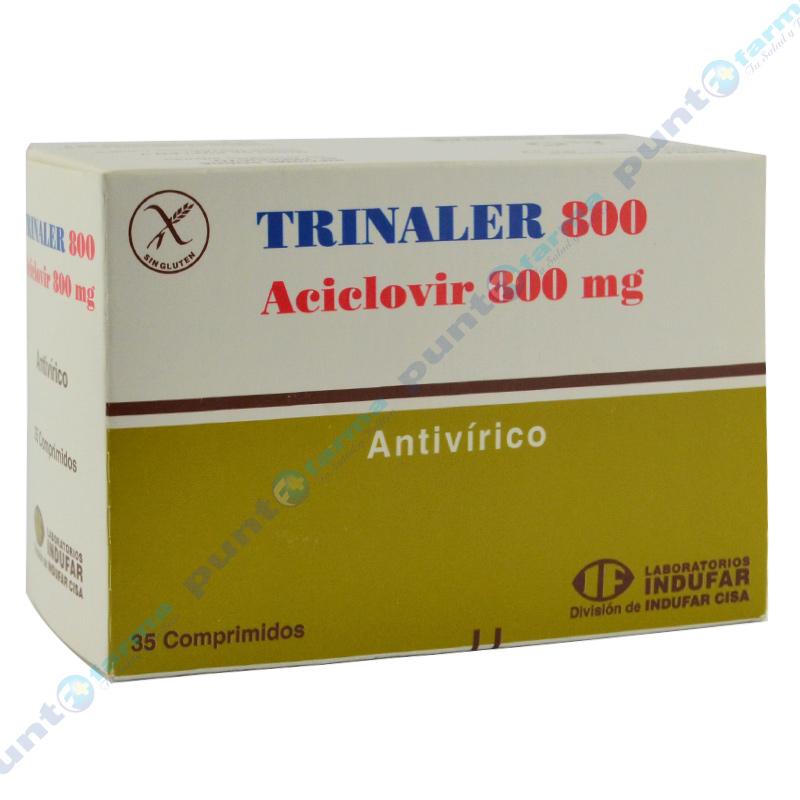 Imagen de producto: Trinaler Aciclovir 800mg - Caja de 35 comprimidos