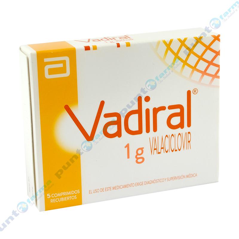 Imagen de producto: Vadiral® 1g Valaciclovir - Caja de 5 comprimidos recubiertos