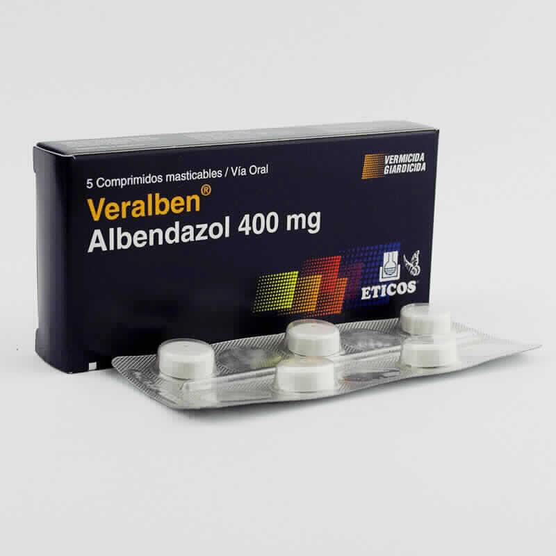 Imagen de producto: Veralben 400 mg -  Caja de 5 ampollas masticables