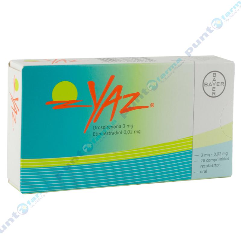 Imagen de producto: YAZ®  - Caja de 28 comprimidos recubiertos