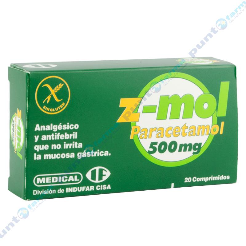 Imagen de producto: Z-mol 500 - Caja de 20 comprimidos