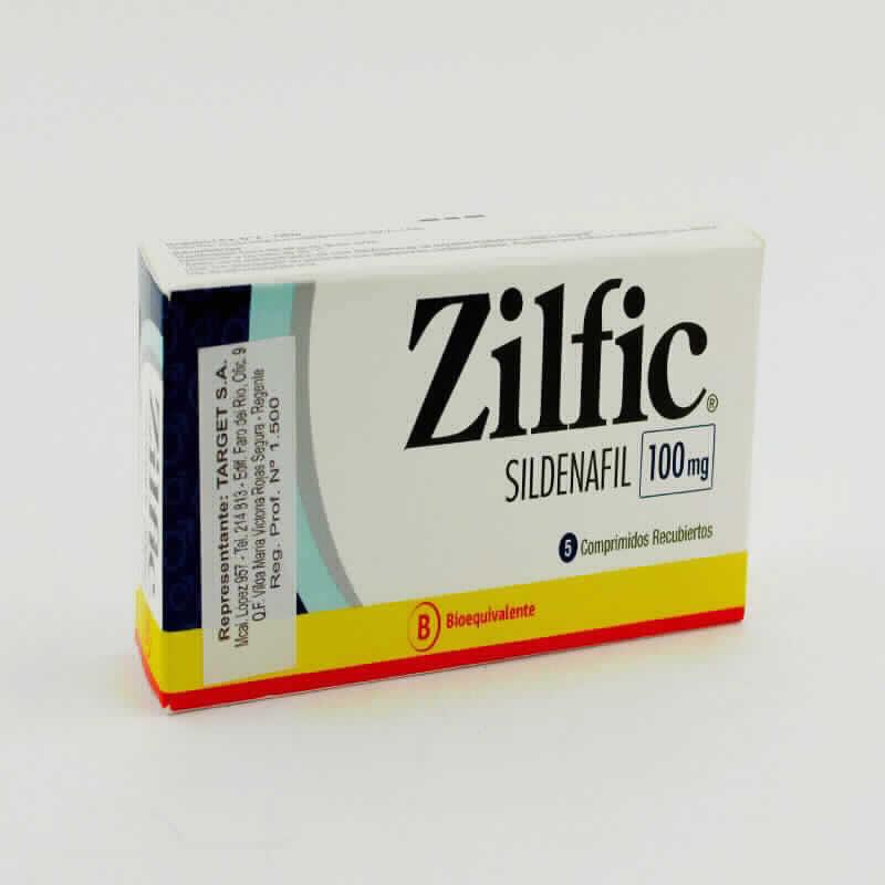 Imagen de producto: Zilfic® Sildenafil 100mg - Contenido de 5 comprimidos recubiertos